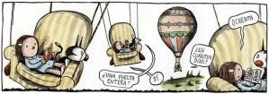 Liniers volta ao mundo num balão
